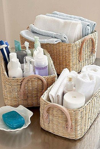 If you are looking for a stylish storage solution these soft rush lined baskets are perfect for you. Made with super useful handles this basket will declutter and organise your home within seconds.