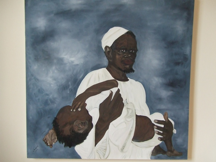 oil on Canvas Father and Son