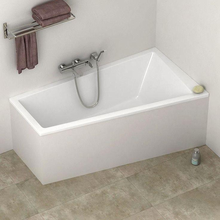 Les 25 meilleures id es concernant baignoire asym trique for Dimension baignoire droite