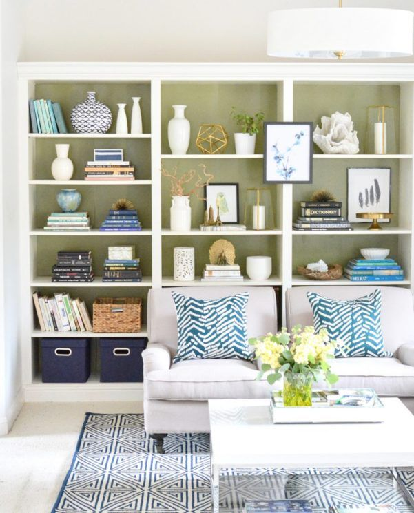 "Styling Bookshelves Revisited. Bookcases are great focal points in any room. A few ""rules"" keep everything looking attractive."