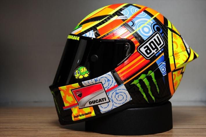 helmets of moto gp | MotoGP Update: picture: Project VR46 AGV Helmet launch