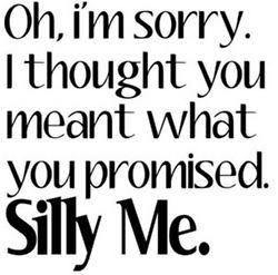 fool me once shame on you. fool me twice, shame on me :(