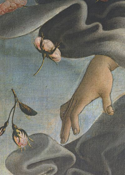 Nascita di Venere (detail), Sandro Botticelli, ca. 1486