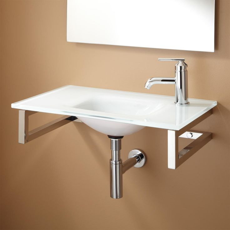Orcas Wall Mount Glass Sink