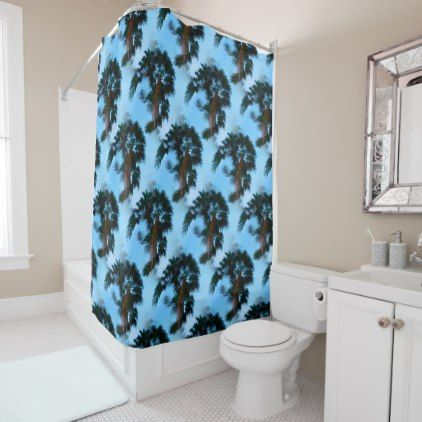Palm trees shower curtain - photography gifts diy custom unique special