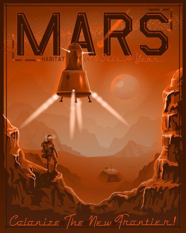 colonize planets retro poster - Google Search