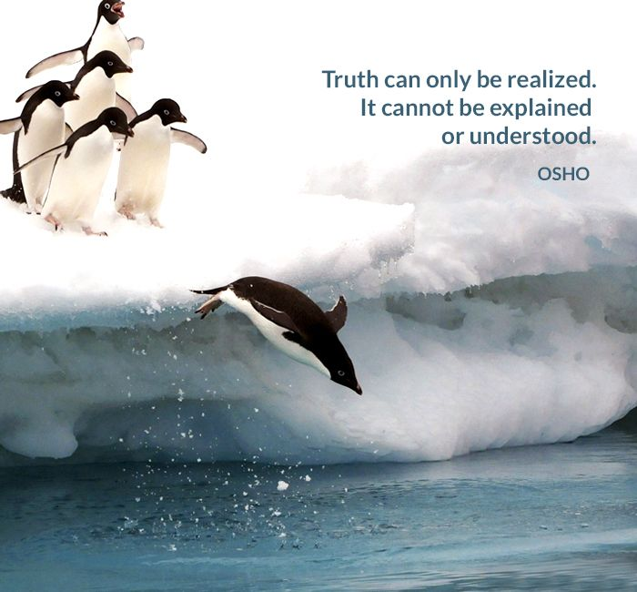 Truth can only be realized. It cannot be explained or understood. OSHO #truth…