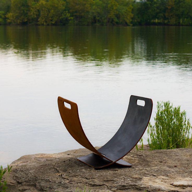 Have to have it. Fire Pit Art Wings of Flight - Artisan Log Rack - $390 @hayneedle