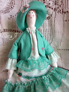 ΥΠΕΡΟΧΕΣ ΔΗΜΙΟΥΡΓΙΕΣ: Кукла в стиле тильда Леди в мятном