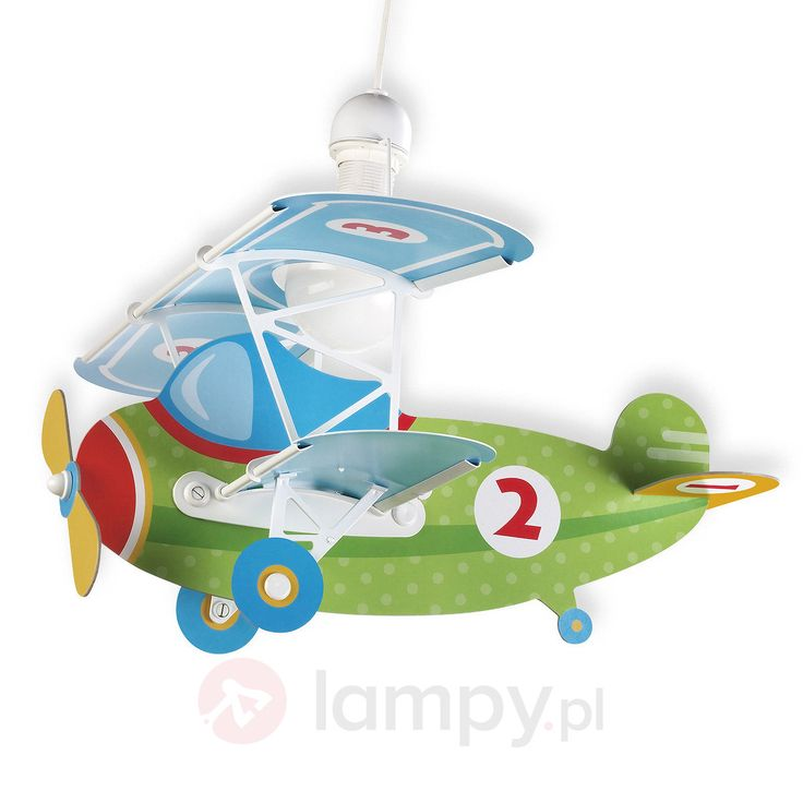 Lampa wisząca Baby Plane w kształcie samolotu 2507356