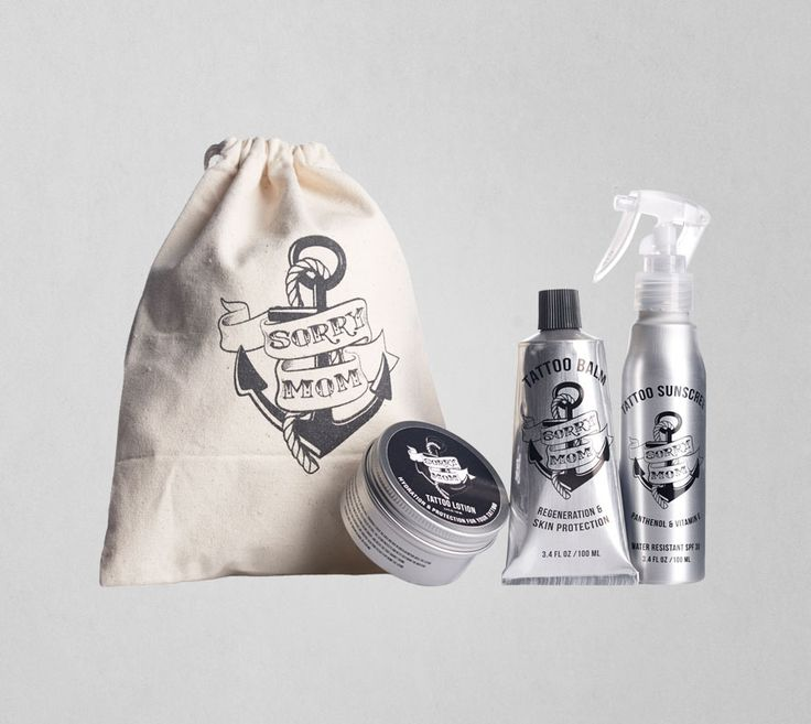"""<h2><strong>COMPLETE AFTERCARE KIT<br /> </strong></h2> <p>The Captain says:<br /> <strong><em>""""A must-have for the tattooed ladies and gentlemen out there""""</em></strong></p> <p>Sorry Mom Tattoo Aftercare Kit contains all you need to take care of your tattoo on short & long term:</p> <p>1 x Sorry Mom Tattoo Balm 100ml<br /> 1 x Sorry Mom Tattoo Lotion 100ml<br /> 1 x Sorry Mom Tattoo Sunscreen 100ml</p> <!-- Facebook Comments Plugin for WordPress: http://peadig.com/wordpress-..."""