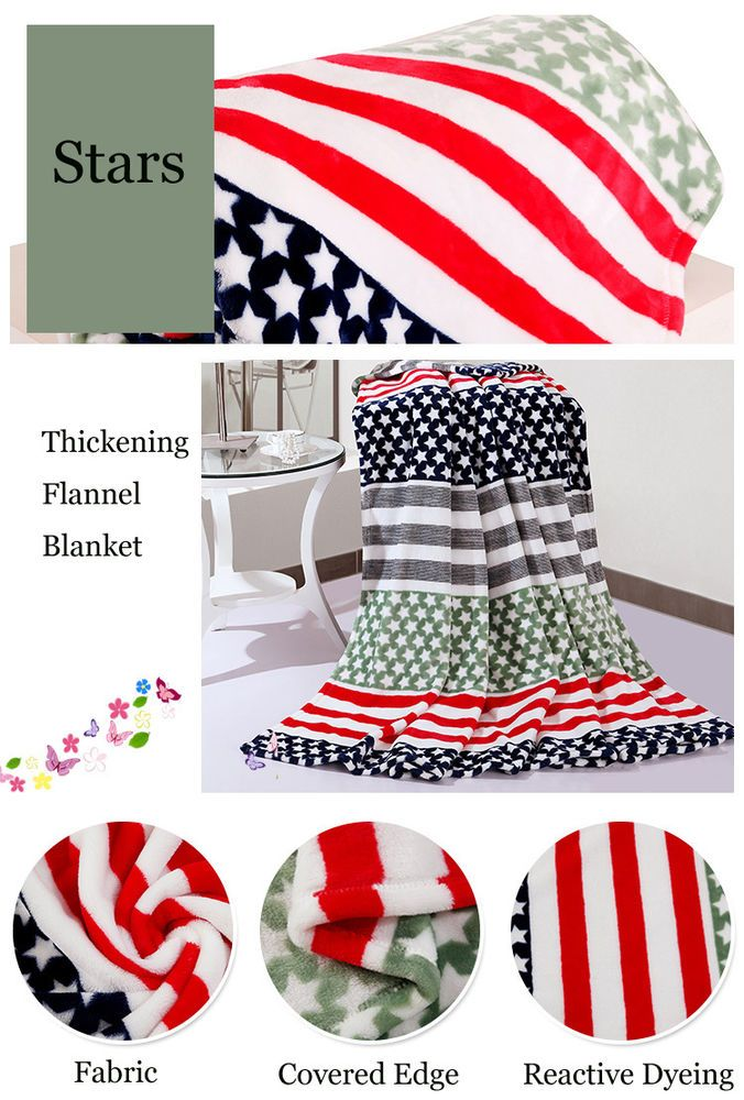 8 Styles American King Size Multi-color Soft Warm Thickness Flannel Blanket  #Handmade #Asian