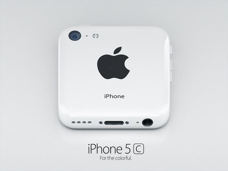 iPhone 5c white #icon by Alexandr Nohrin