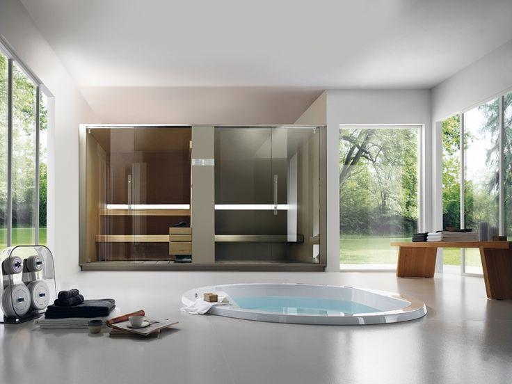 Wilt u een sauna en een Turks bad samenbrengen in een mooi ontwerp te brengen dan is de S   H Twin van Effegibi de oplossing met top functionele normen om uw droom waar te maken.  -