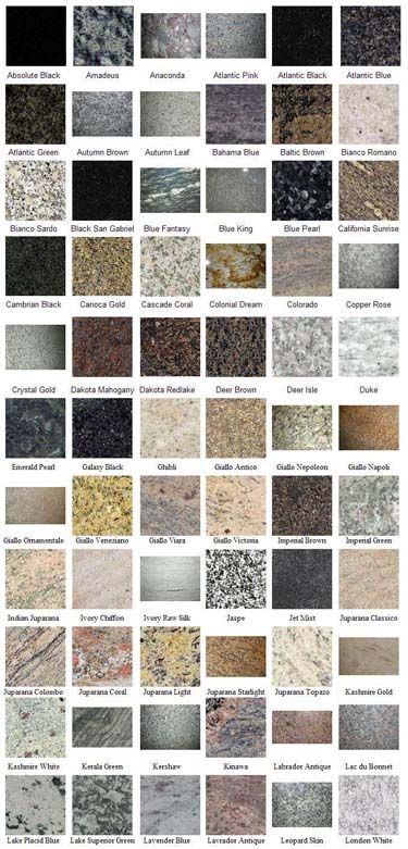 So many choices!  I think I'll probably pick a darker granite for my countertops in my new white kitchen.
