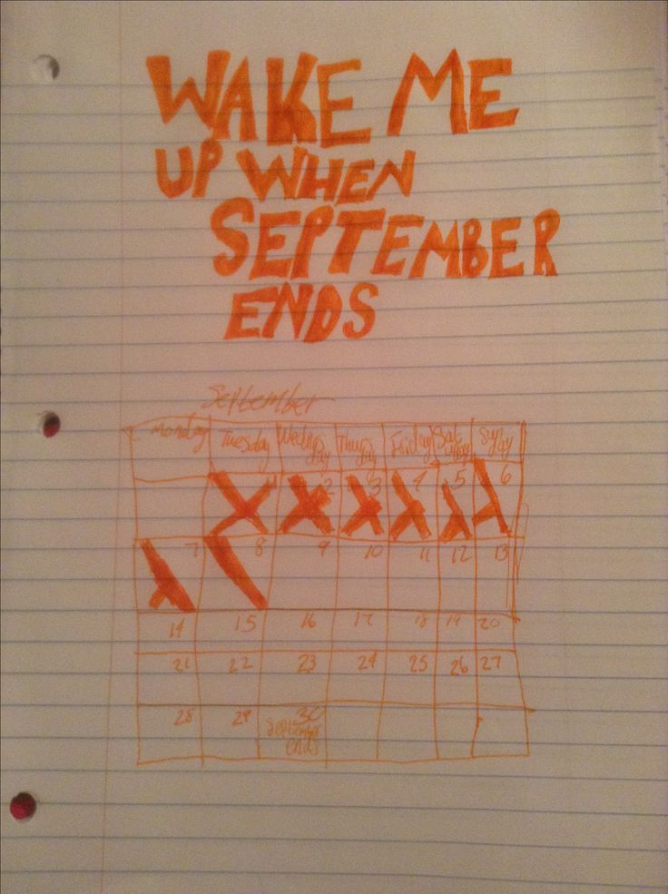 Wake Me Up When September Ends by Green Day fanart.