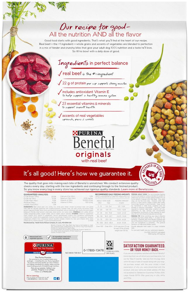 Purina Beneful Originals With Real Beef Adult Dry Dog Food 15 5
