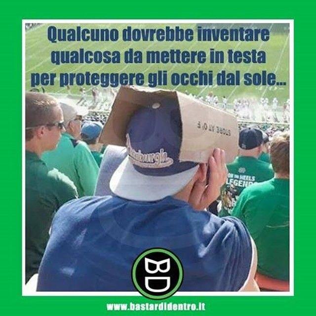 Pensate alla frustrazione di quel tale che inventò il #cappello con la visiera! #bastardidentro #sole… www.bastardidentro.it