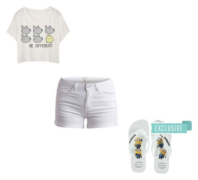 """""""#366"""" by aureeliet on Polyvore featuring Pieces and Havaianas"""