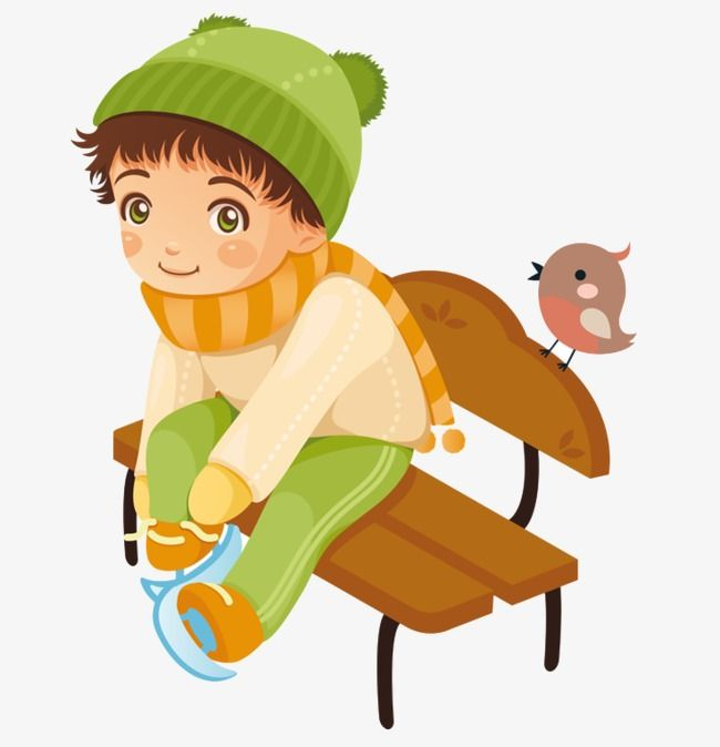 Cartoon Boy Cartoon Boy With Green Hat Winter Boys Birds Boy Clipart Boy And Bird Cartoon Boy Green Hats