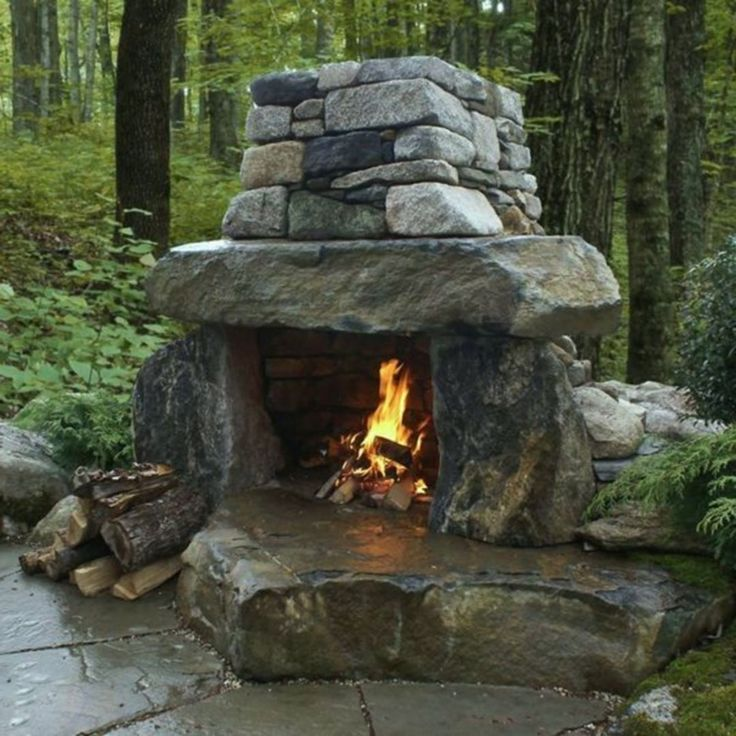 Charming Best 25+ Rustic Outdoor Fireplaces Ideas On Pinterest | Rustic Outdoor  Kitchens, Rustic Outdoor Spaces And Outdoor Seating Areas