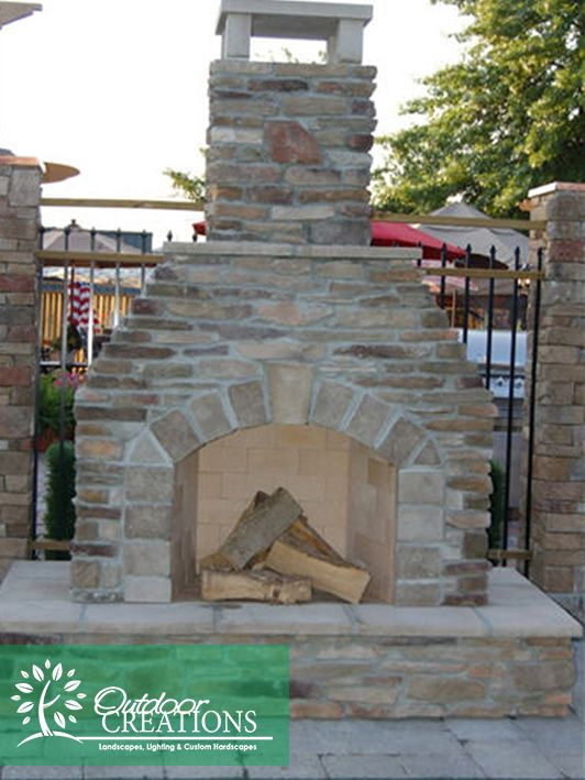 While being a natural focal point, fireplaces enhance the beauty and usefullness of your backyard. Fireplaces can help define space and serve to draw people together. Your time outside does not have to be limited when you can gather around the fire into cooler weather. Don't hesitate - call us today to see what we can do for your home at #OutdoorCreations
