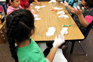 Phases of the Moon with Shaving Cream...what a great idea!