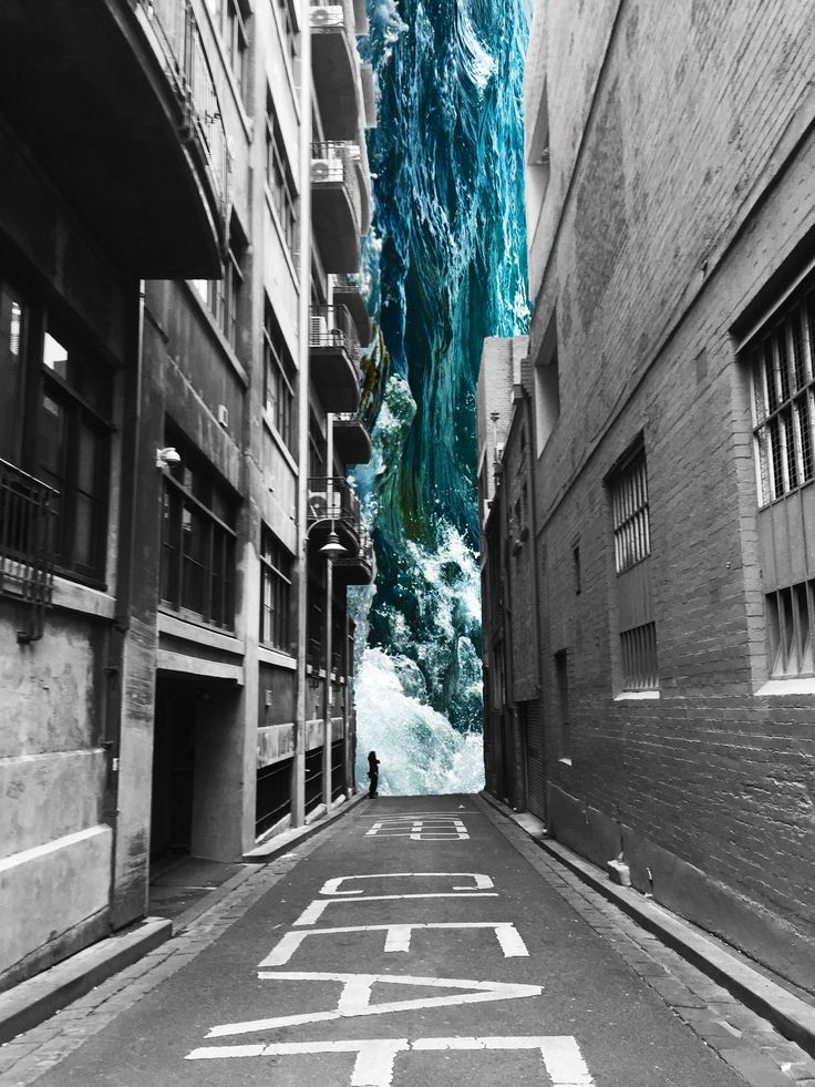 A digital collage inspired by the work of Merve Ozaslan  Photo / Photograph / Melbourne / City / Art