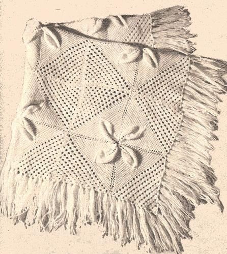 Vintage Knitting PATTERN Baby Afghan Crib Blanket Motif KnitBabyAfghan ...