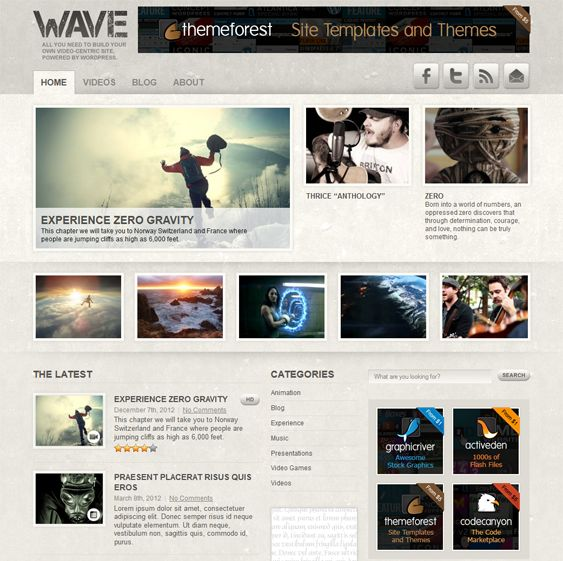 This video WordPress theme has widgetized sidebars, support for self-hosted videos, advertising space, high definition video support, a color picker for unlimited colors, WP-PostRatings support, and more.