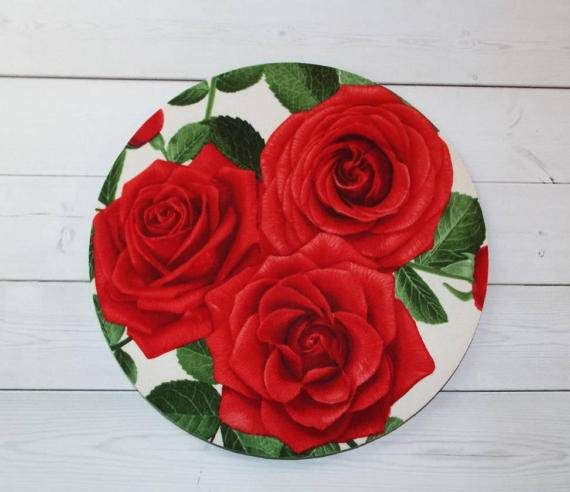 Roses Mouse Pad mousepad / Mat  Rectangle or round  by Laa766  chic / cute / preppy / computer, desk accessories / cubical, office, home decor / co-worker, student gift / patterned design / match with coasters, wrist rests / computers and peripherals / feminine touches for the office / desk decor