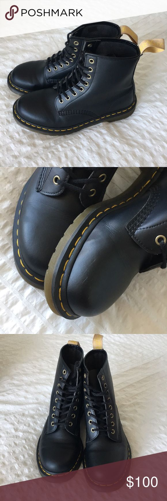 Vegan 1460 Doc Martens Women's size 9. Vegan faux leather. In great condition other than a small scuff on side of left toe if you look closely. Dr. Martens Shoes Combat & Moto Boots