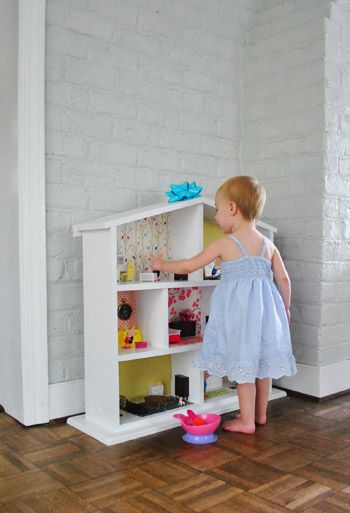 DIY idea - girls white doll house. Can't wait to make one
