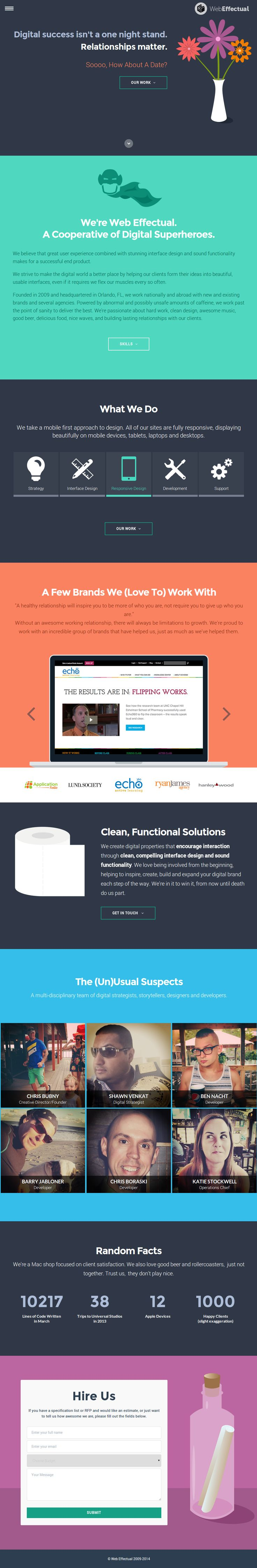 Web Effectual - creative - #hamburger #slidingmenu #hover-color #click-carousel #logowall #picblurb #stats #counter #flat #contact-form #flat #stickymenu// #blue #green #orange #purple