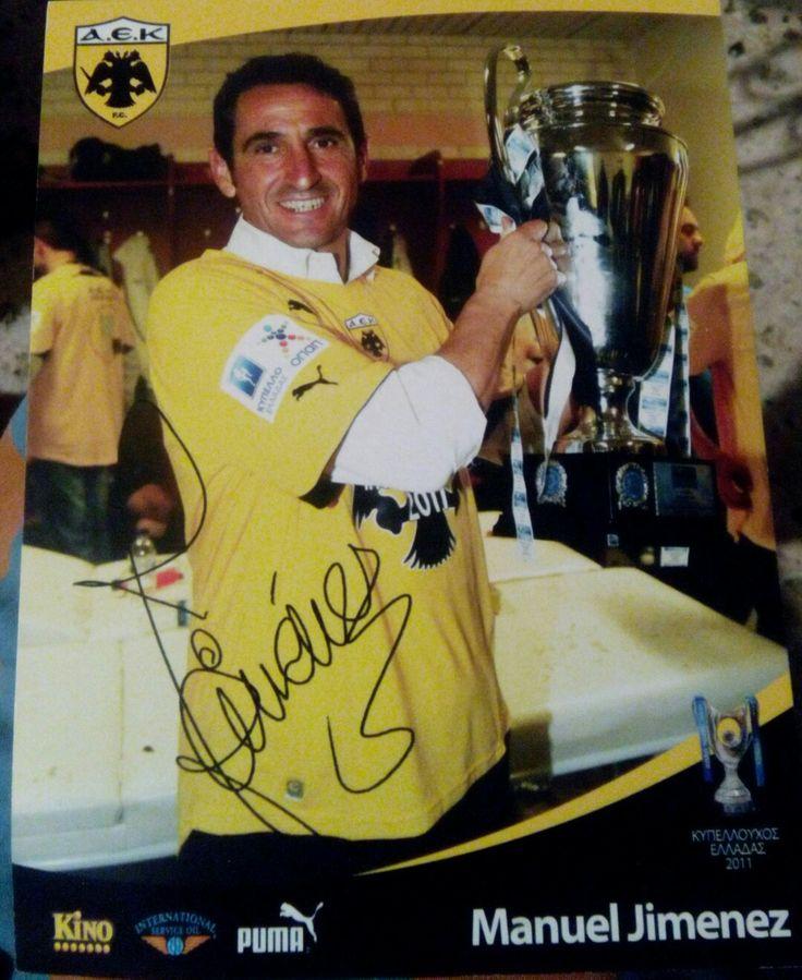 Manuel Jimenezof birth26 January 1964(age52)Place of birthArahal, SpainHeight1.78m (5ft 10in)Playing positionLeft backYouth careerSevillaSenior career*YearsTeamApps(Gls)1981–1984Sevilla B1984–1997Sevilla354(1)1997–1998Jaén9(0)Total363(1)National team1986Spain U211(0)1988Spain U231(0)1988–1990Spain15(0)Teams managed2000–2007Sevilla B2007–2010Sevilla2010–2011AEK Athens2011–2013Zaragoza2013–2015Al Rayyan
