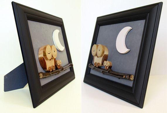 bella cornice nera castagno chiaro arredamento luna