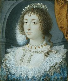 Henrietta Maria of France (1609 - 1669). Daughter of Henri IV and Marie de Medici. She married Charles II of England and had nine children.