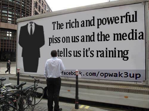 """""""Rich and powerful"""" = """"media"""" controlled by the Republican government. Vote For Bernie #FeeltheBern"""
