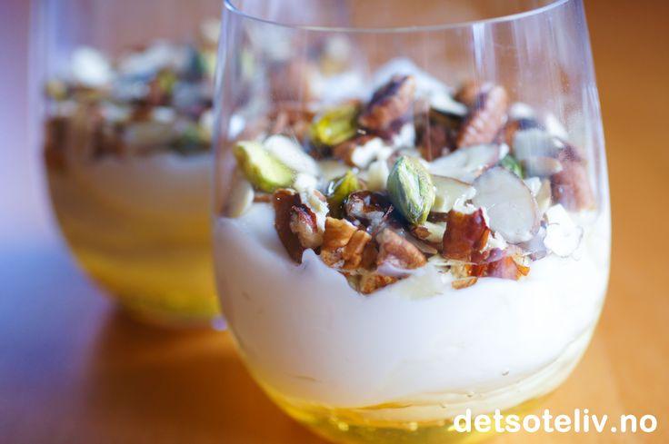 Gresk yoghurt med honning & nøtter