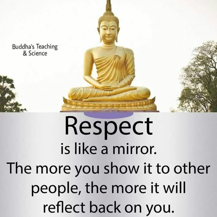 Respect is like a mirror ✨