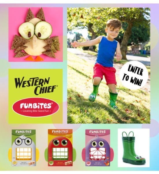 Western Chief has partnered up with FunBites, makers of the coolest food-cutter on the market, to offer you this exciting giveaway! Enter for a chance to win a fun food-cutter of your own plus a pair of children's Western Chief rain boots (winner's choice). Contest ends 4/19/17 at 11:59pm PST. Must be 18 or older to enter. Open to US residents only.