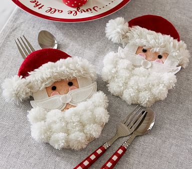 Santa Utensil Holder #pbkids