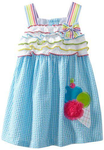 Rare Editions Girls 2-6X Seersucker Dress:Amazon:Clothing♥♥♥