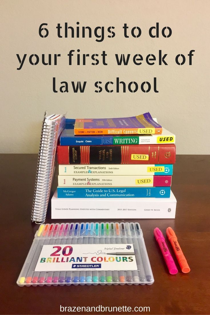 6 things to do your first week of law school | http://brazenandbrunette.com