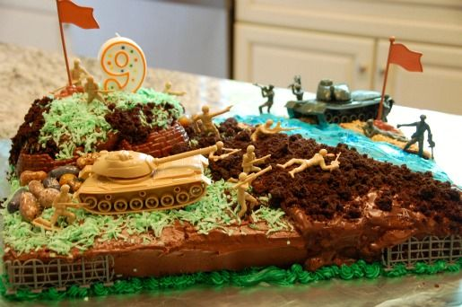 I would change it from army cake to Marine cake OohRah