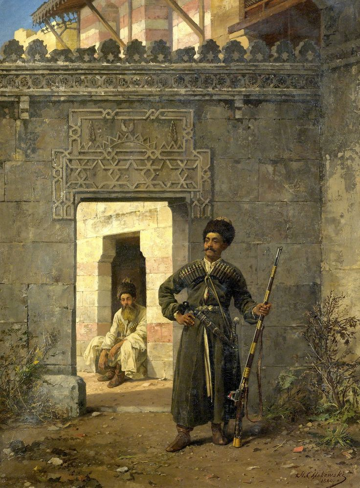 The Circassian guards Stanislaw Chlebowski 1880