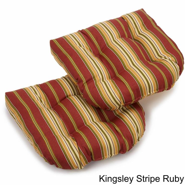 Blazing Needles Outdoor Dining Chair Cushions