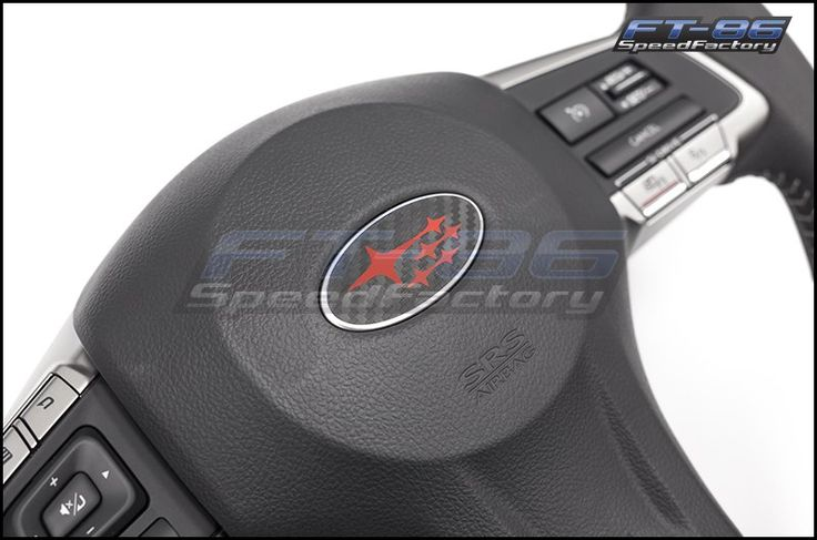 3D Carbon Steering Wheel Emblem Overlay - 2013+ BRZ - Bezels and Trim Pieces…