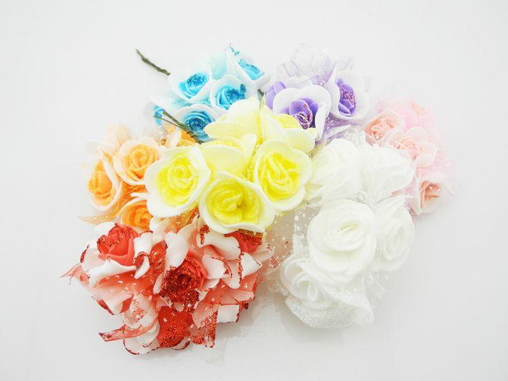 3 см одной головы чп роуз пена букет чп скрапбукинг искусственный розы DIY цветка 6 шт./лот -