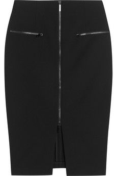 Elizabeth and James Ashlyn zip-front stretch-crepe skirt | NET-A-PORTER